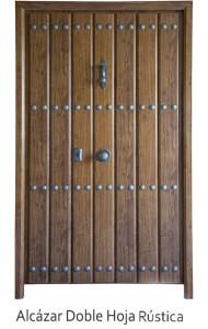 Alcázar Doble Hoja Rústica Serie Rústica puertas acorazadas