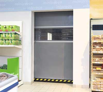 Rápida Enrollable Sector Alimentación