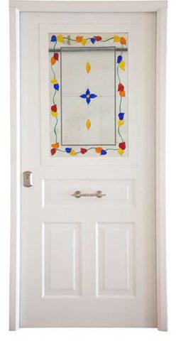 Antique Blanca Ventana Serie Rústica Puertas Acorazadas