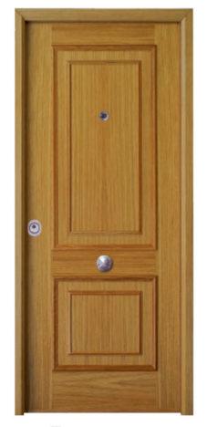 puertas acorazadas omega madera doble casetón